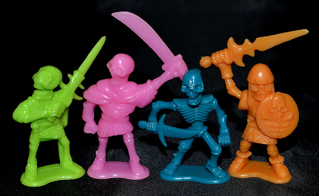 Plastic skeleton warriors group shot