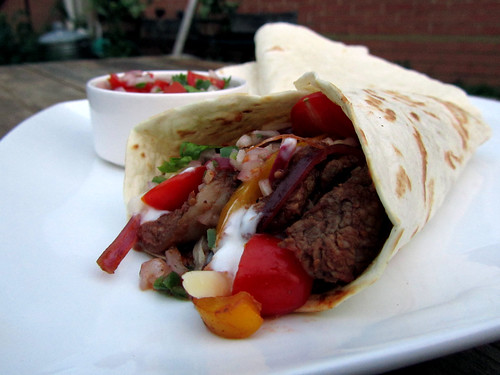 Mexican fajitas with pico de gallo