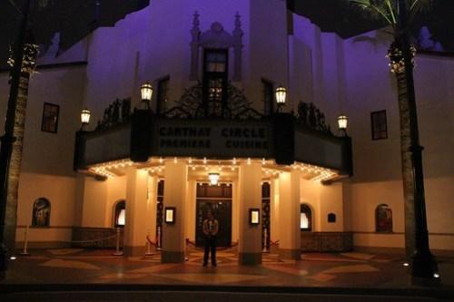 Carthay Circle Theatre at night