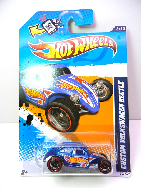 hot wheels custom volkswagen beetle blue (1)