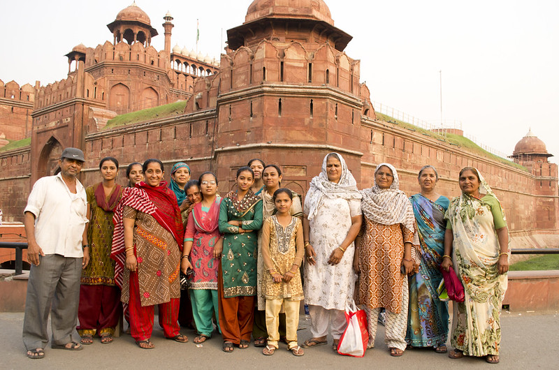 Family at the red fort