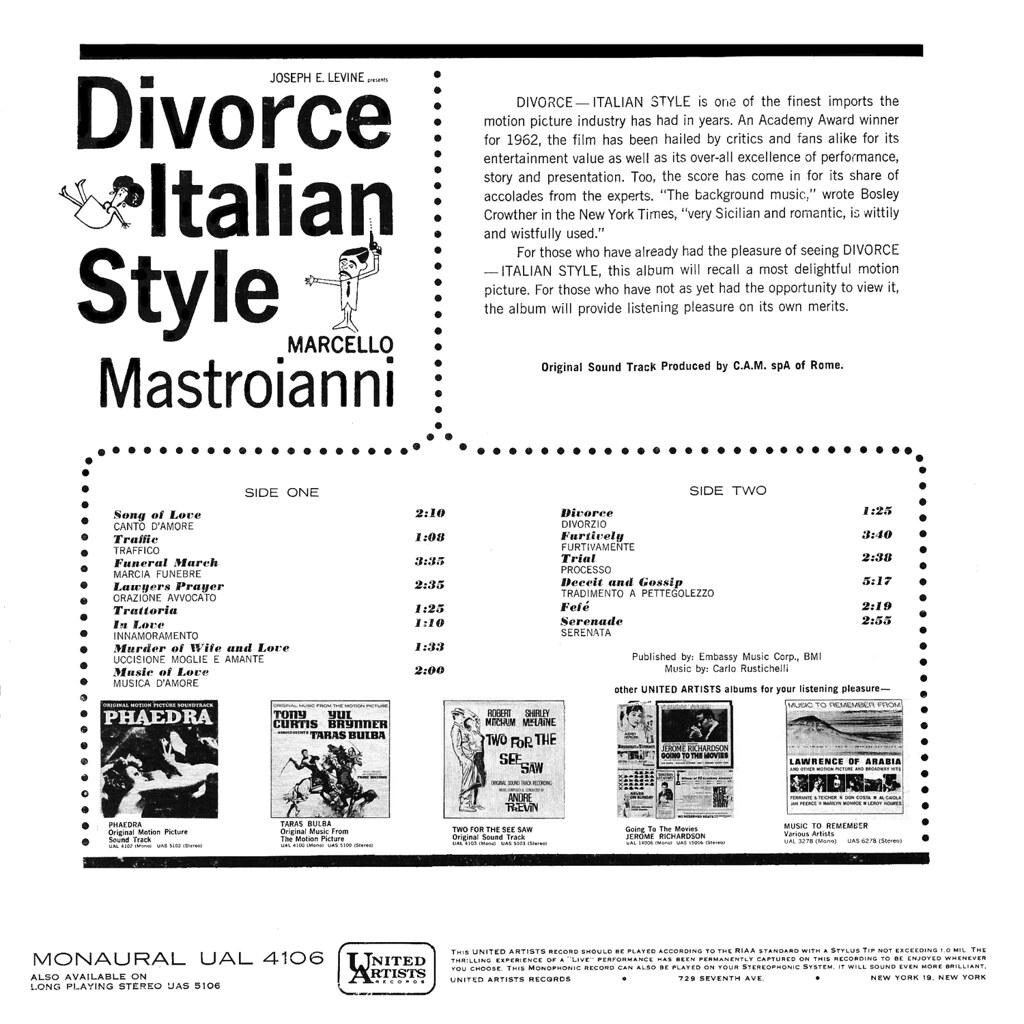 Carlo Rustichelli - Divorce Italian Style