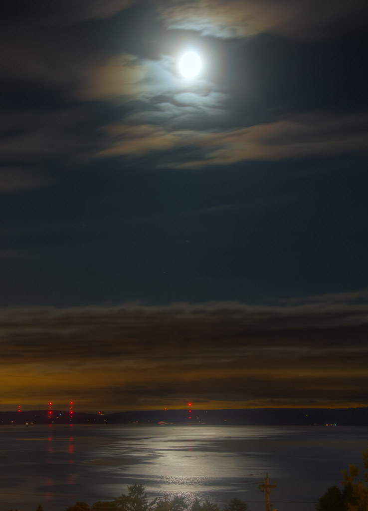 Moonlit Puget Sound