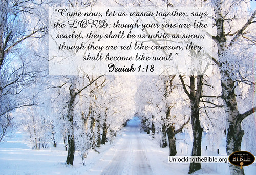 "Isaiah 1:18 ""White as Snow"""