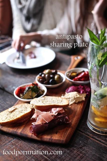 antipasto sharing plate
