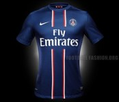 Paris Saint-Germain Nike 2012/13 Home Soccer Jersey / Football Kit / Maillot