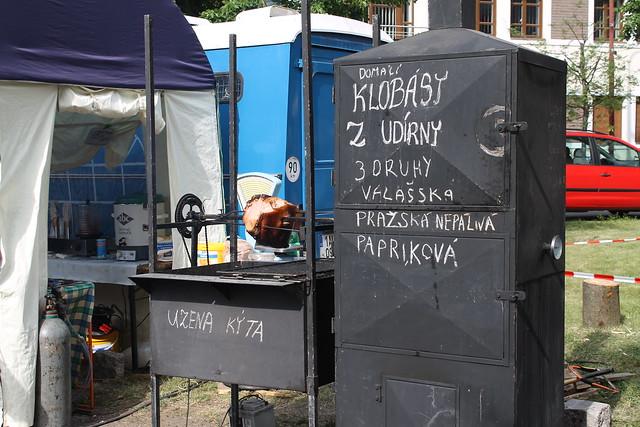 Car Battery + Bike Chain + BBQ + Ham = Prague Roasted Ham.