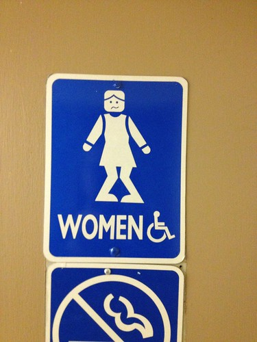 Women's bathroom sign