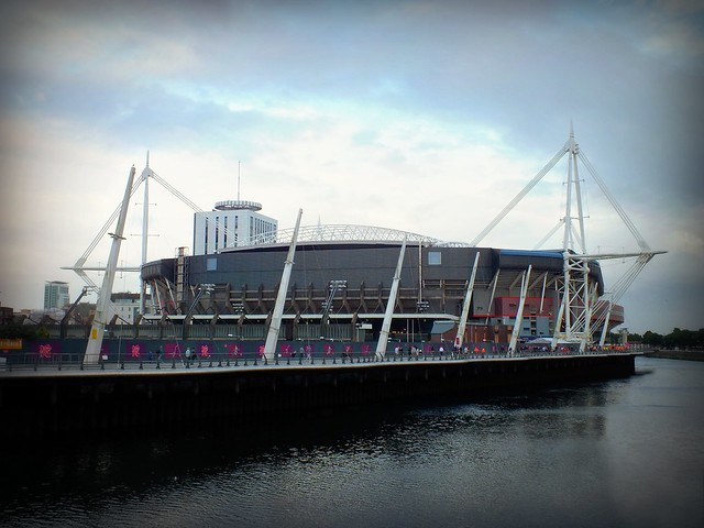 Cardiff City centre for the Olympic Football