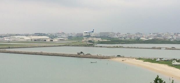 160918 瀬長島からみる空港