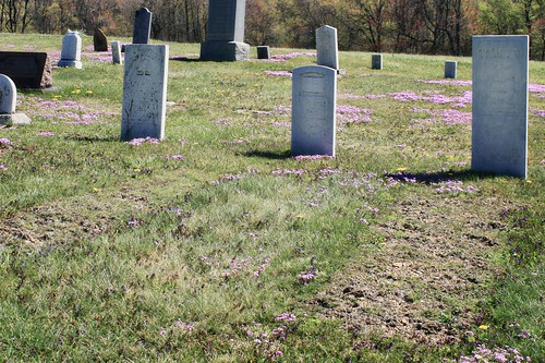 Rather iffy-looking century-old graves in West Virginia
