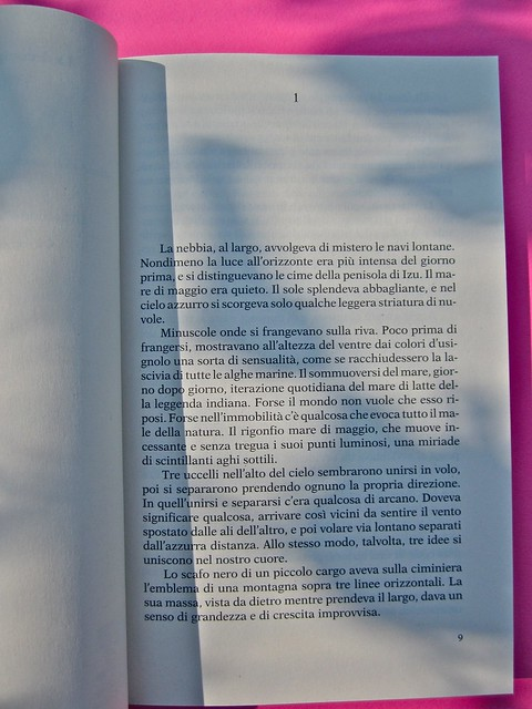 Yukio Mishima, La decomposizione dell'angelo. Feltrinelli 2012. Art director: Cristiano Guerri. In cop.: ©Araki. Incipit (part.), 1