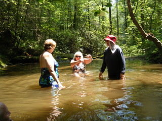 Debbie, Kathy, and Erna at Bear Camp Creek