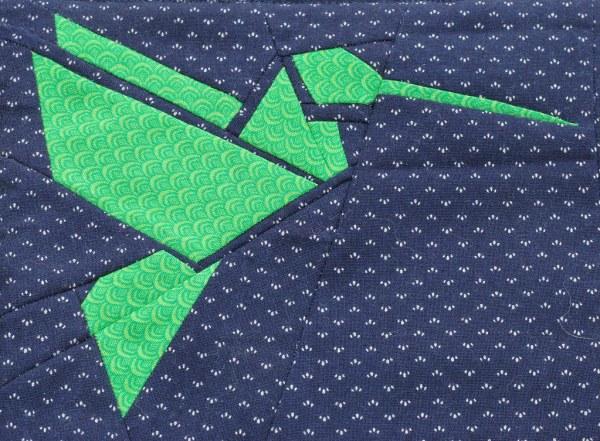 Hummingbird Origami Paper Piecing
