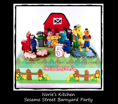 Norie's Kitchen - Sesame Street Barnyard Party Cake by Norie's Kitchen