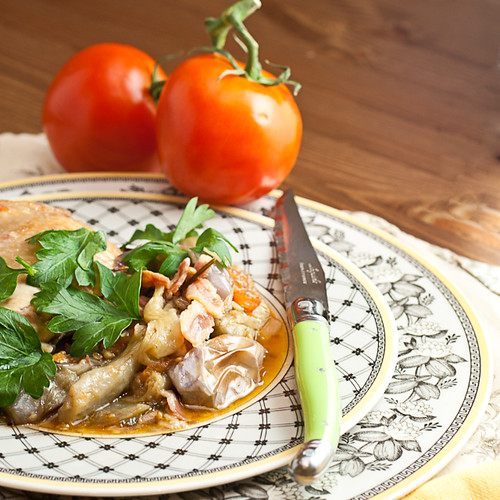Fricasseed Chicken with Eggplant and Fresh Tomatoes (15 of 15)