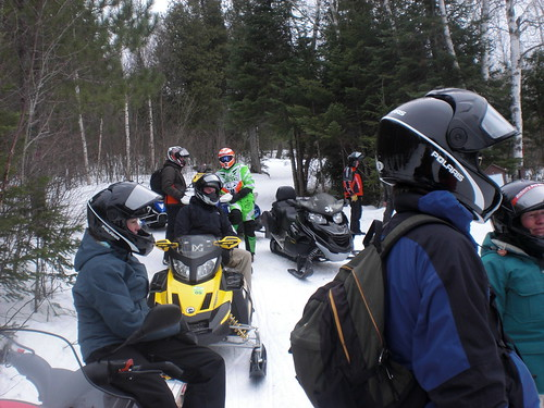 Snowmobile break time