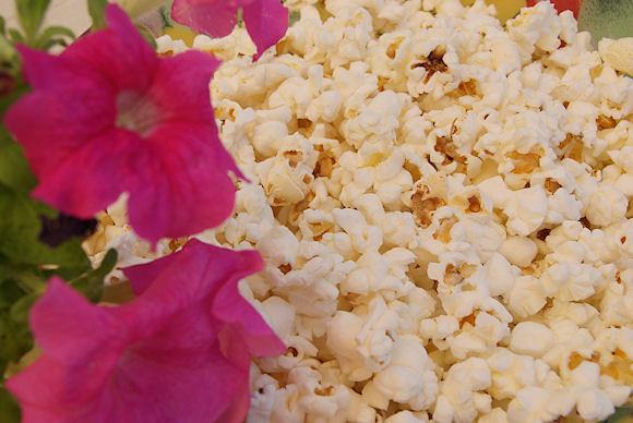 Palomitas y flores