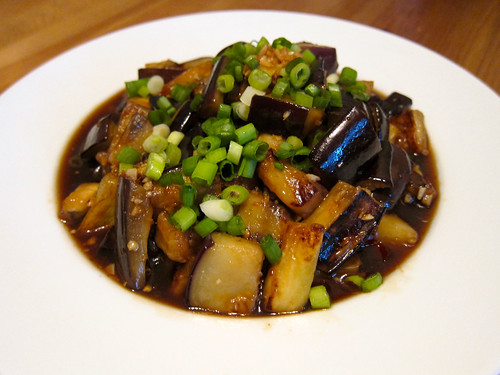 Japanese Spicy Sweet-and-Sour Eggplant (Nasu no Agebitashi)