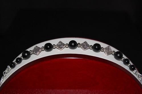 Celtic Obsidian Bracelet