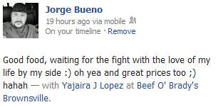 Jorge's Status 6-9-12