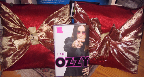 20120519 - yardsale booty - pillows, Ozzy Osbourne book - IMG_4220