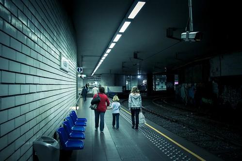 Urban Mythologies : A Traced Fate (Un Destin tout tracé) Station de métro Albert, Bruxelles (Photo : Gilderic)
