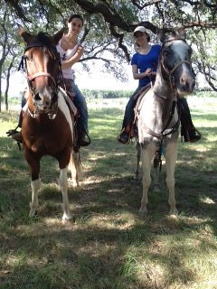 Amanda & Mom Riding Horses