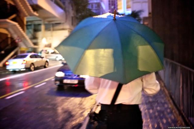 Thru the umbrella