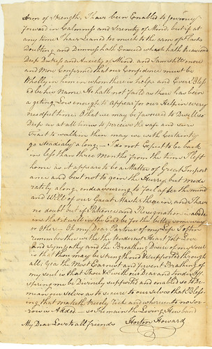 Horton Howard to Mary (Dew) Howard, 1799, pg. 2 of 2