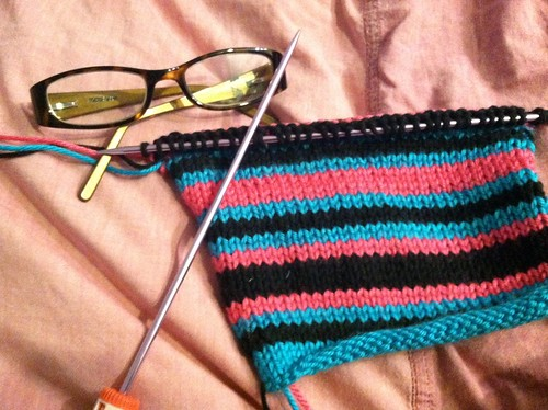 Striped Eyeglass Case