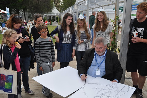 Chris Riddell in Charlotte Square