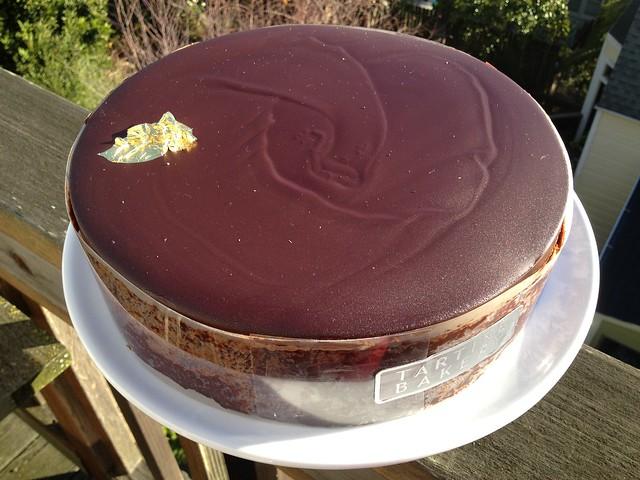 Chocolate souffle cake Tartine Bakery