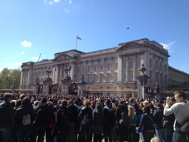 Buckingham Palace during Changing of the Guard