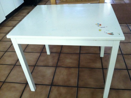 Ikea table before