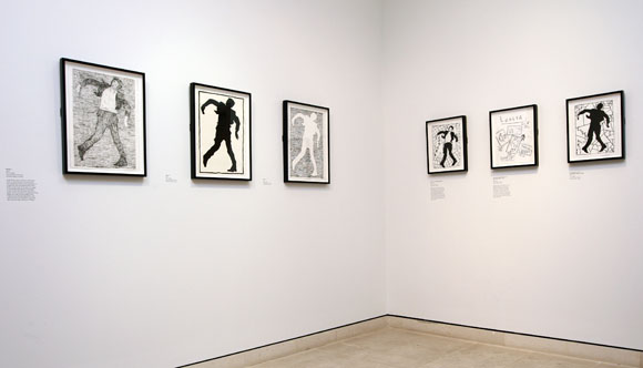 Lodger sketches, Derek Boshier, Pallant House Gallery, Chichester.