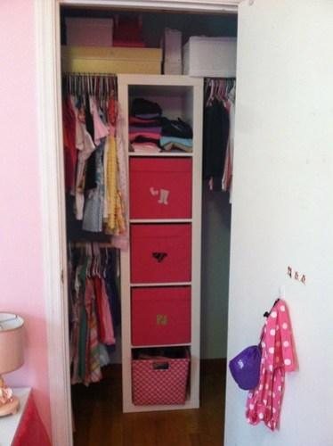 girl closet after