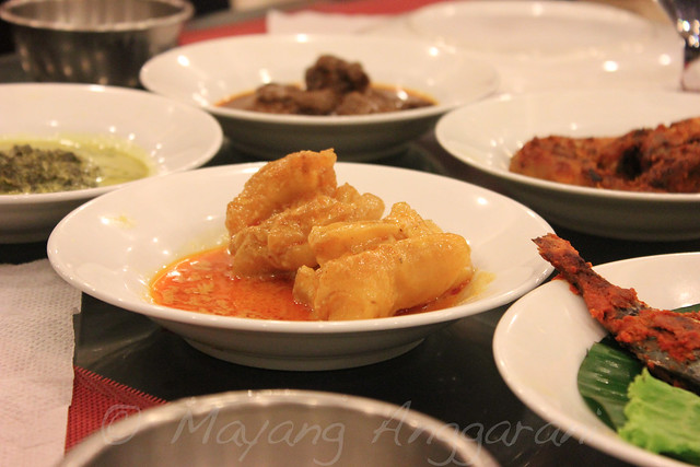 "One of my favorite ""Tunjang"" (Beef tendon stewed in light coconut milk and spice)"