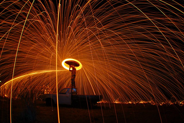 Steel Wool Light Painting