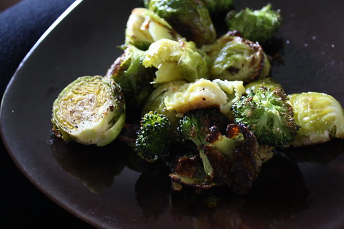 brussels sprouts and broccoli