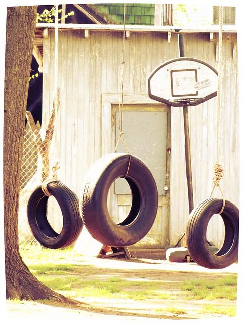 Three Tire Swings