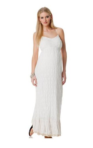 Pea in the Pod White Maxi Dress