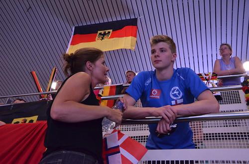 Gunvá og Magnus á EJM í Antwerpen
