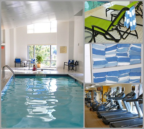 Embassy Suites pool collage