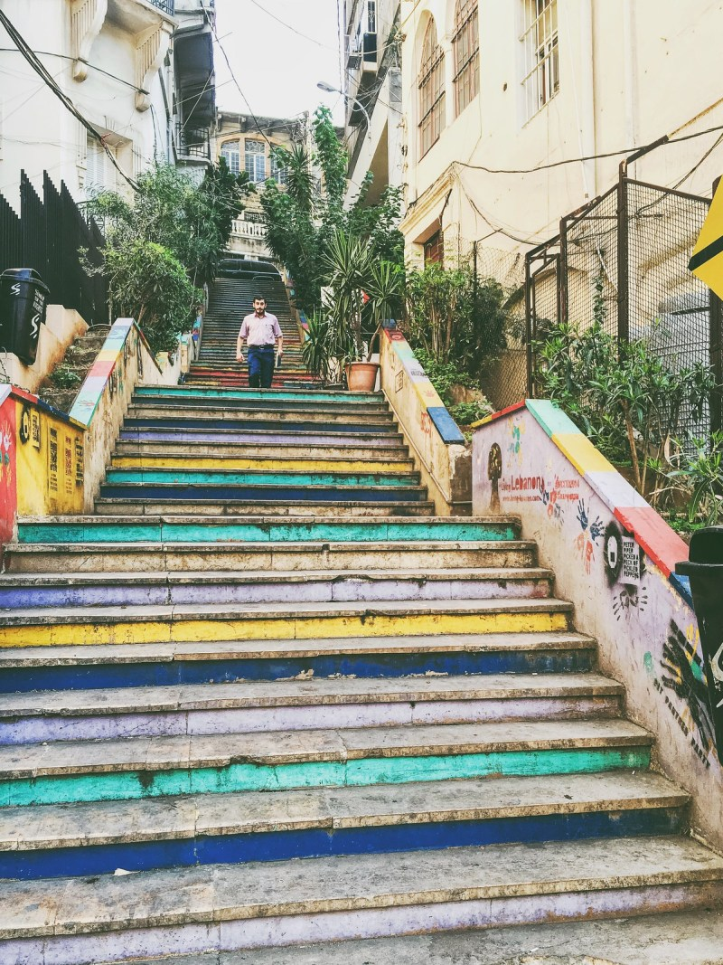 Steps of color. Beirut, Lebanon 2015