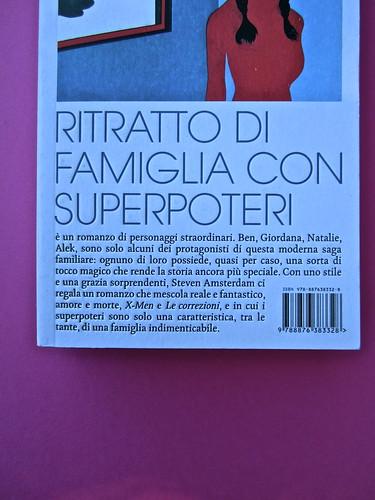 Steven Amsterdam, Ritratto di famiglia con superpoteri, ISBN 2012. Grafica: Alice Beniero. Copertina (part.), 3