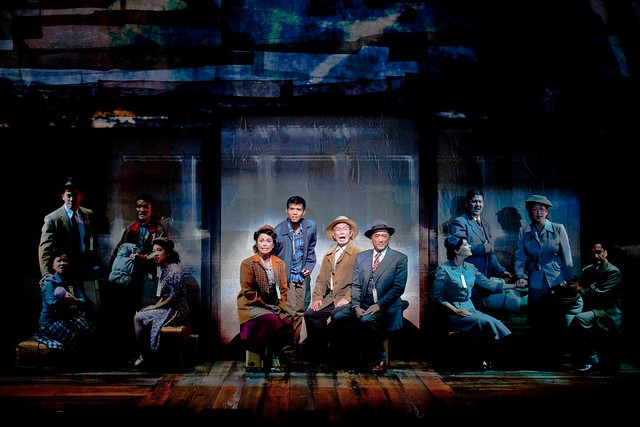 "Lea Salonga, George Takei and cast of ""Allegiance."""
