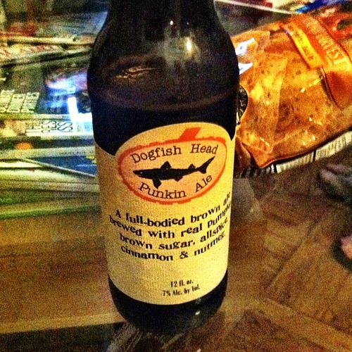 Pumpkin beer at 11:30 at night. Probably a bad idea, but necessary. Thanks, @crowonthepine :)