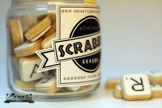 scrabble cookies packaging