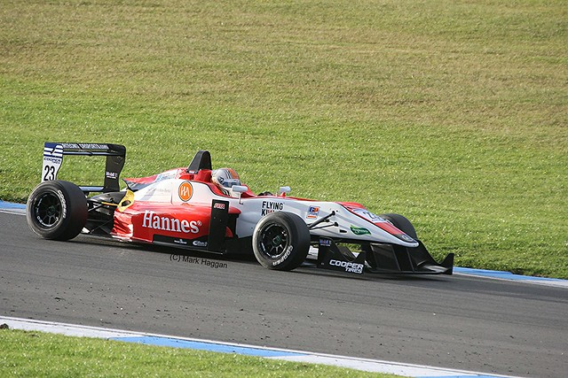Hannes van Asseldonk in his Fortec during Formula Three Racing at Donington Park, September 2012